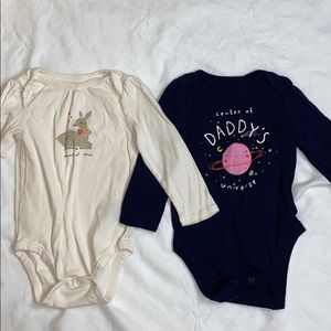 2 size 18-24 month baby gap long sleeve onesies